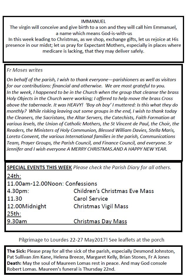 Catholic Church Llandudno Earlier Newsletters | Autos Post