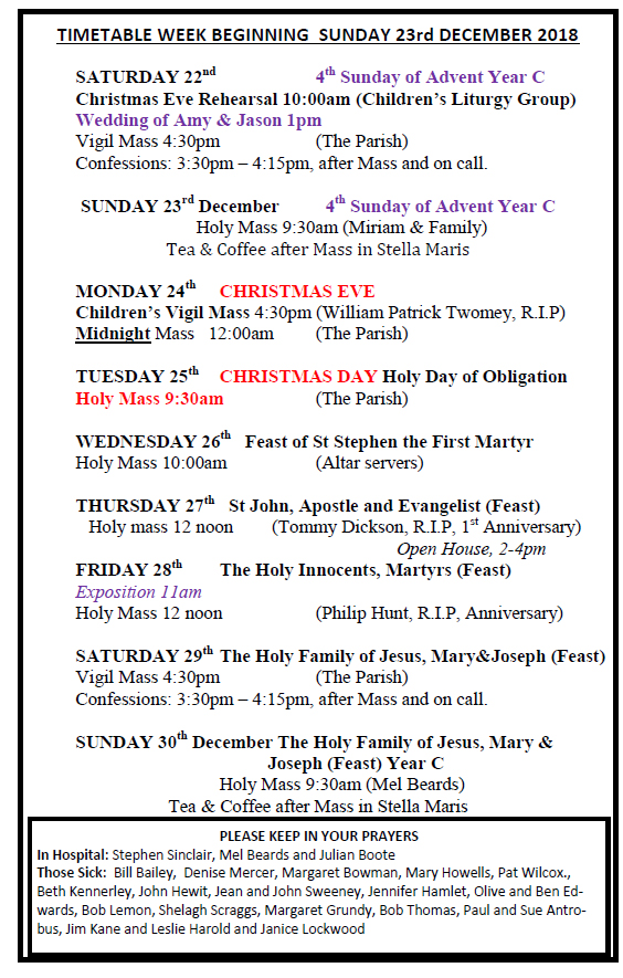 Earlier Newsletters | Catholic Church, Llandudno