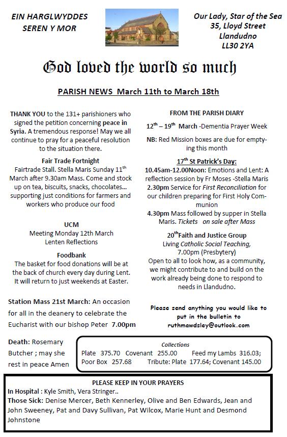 Earlier Newsletters | Catholic Church, Llandudno